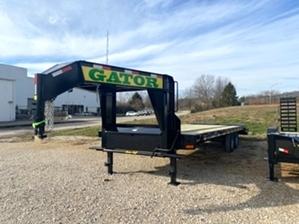Gooseneck Trailer Single  Gooseneck Trailer Single. 20+5 7k 4 tire gooseneck trailer with big ramp system